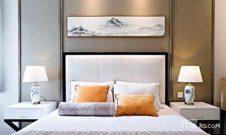 90平中式风格家卧室背景墙