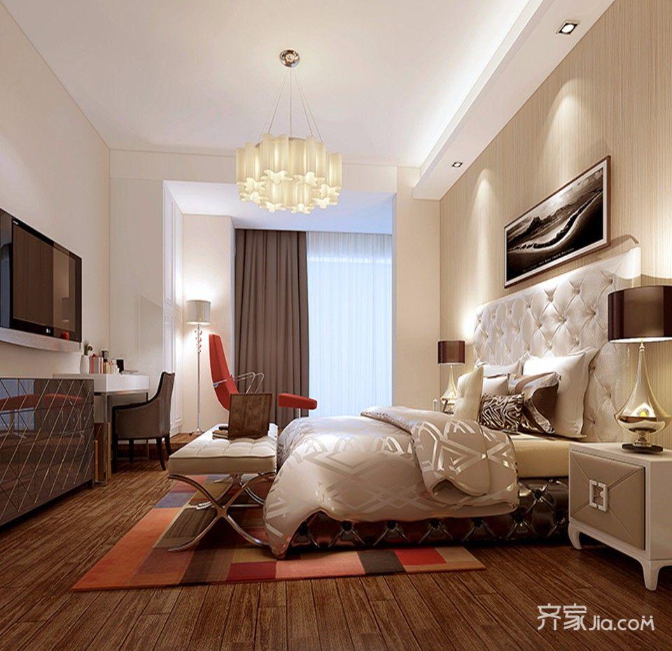 95平米二居室装修卧室效果图