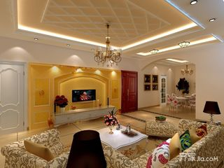 欧式轻奢风装修客厅效果图
