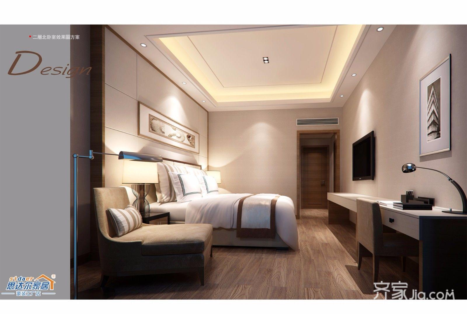 中式别墅设计卧室欣赏图