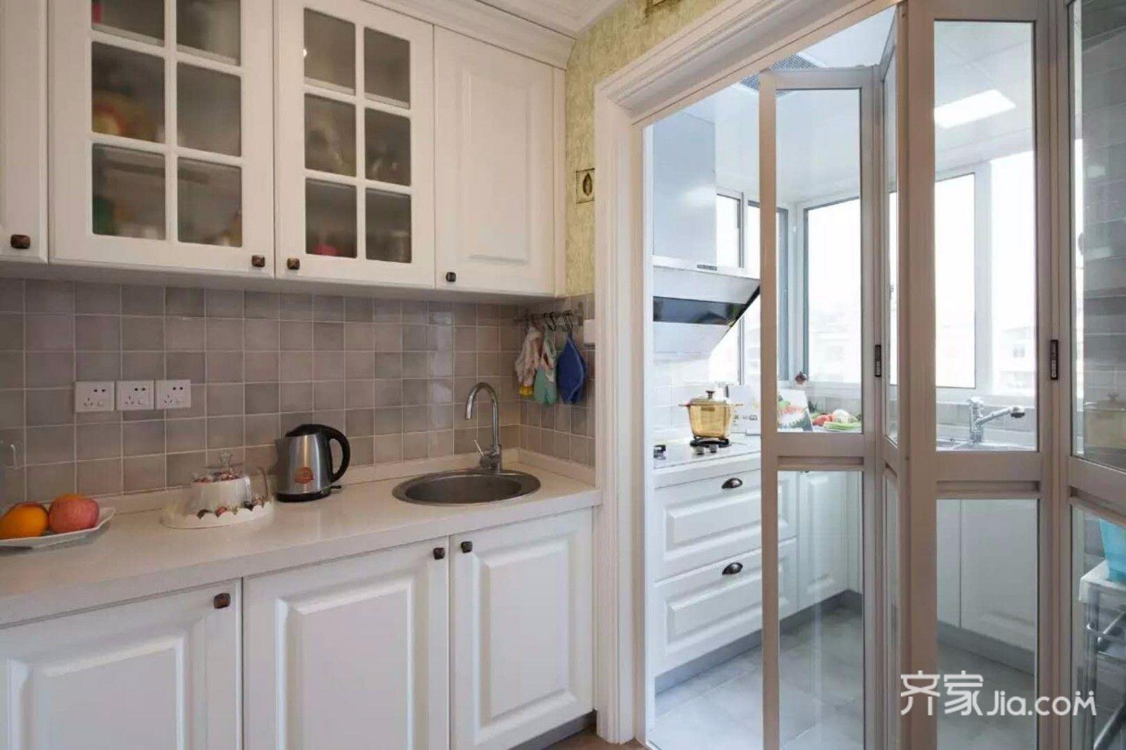 110平混搭风格装修厨房设计图