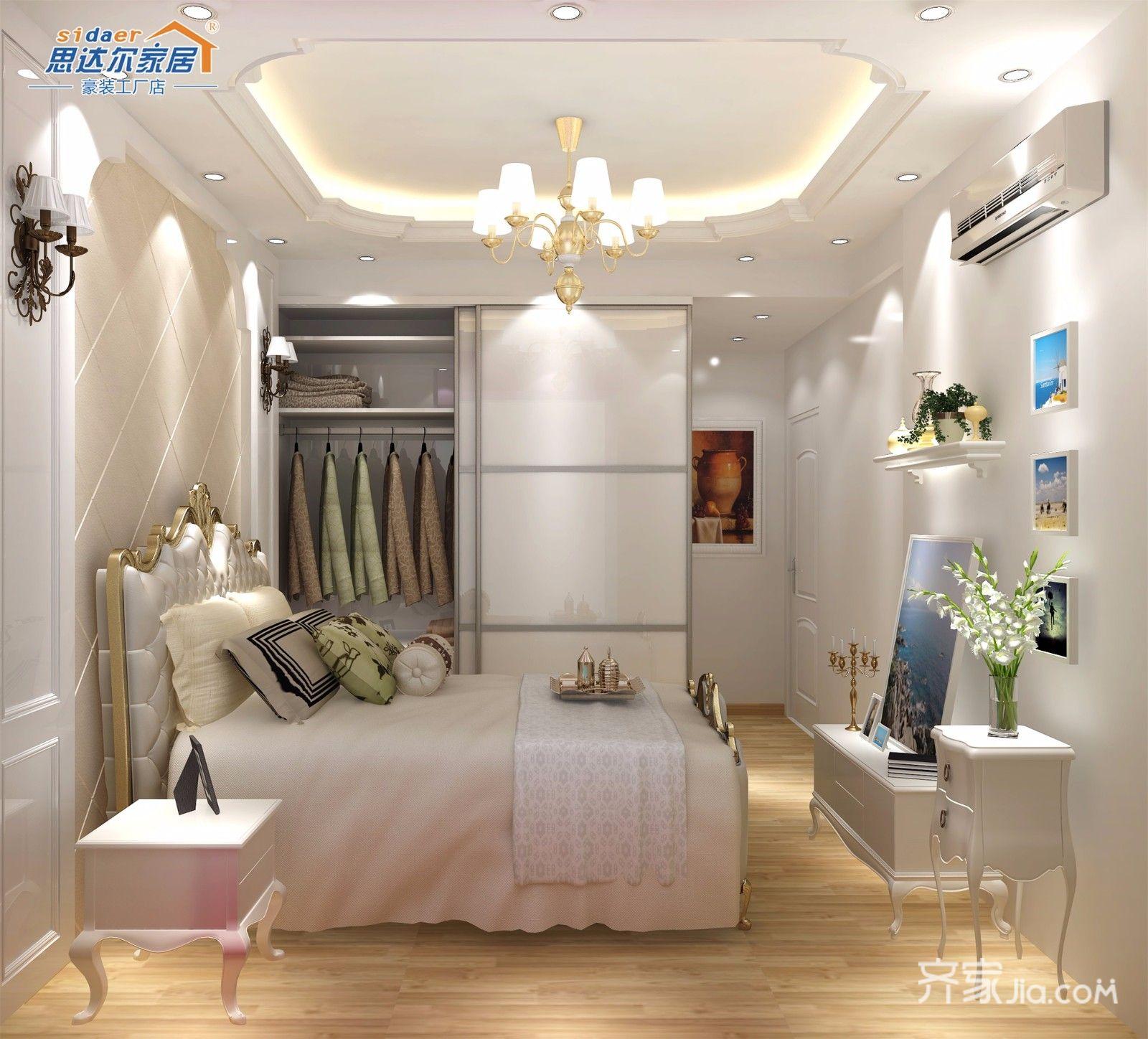 130平欧式风格装修卧室效果图