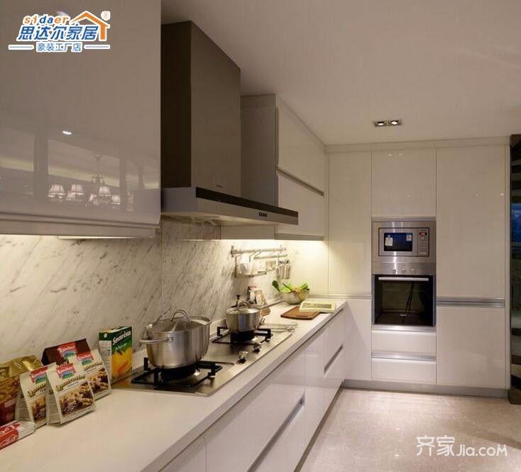 130平欧式风格装修厨房设计图