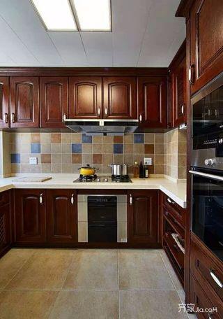 新中式二居室装修厨房实景图