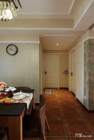 三居室美式风格装修玄关