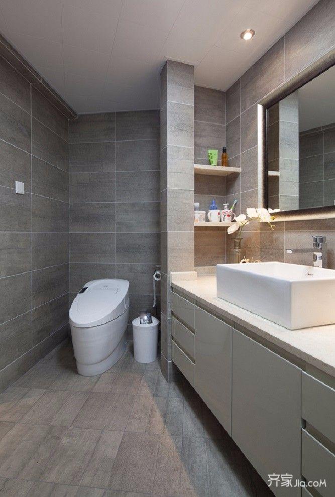 简约二居室装修卫生间装潢图