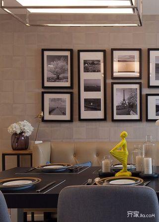 简约二居室装修餐厅照片墙