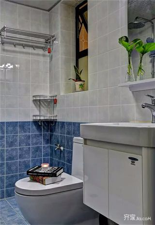 简约140平装修设计卫生间装潢图