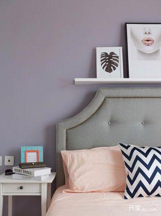 三居室现代简约风格装修卧室背景墙