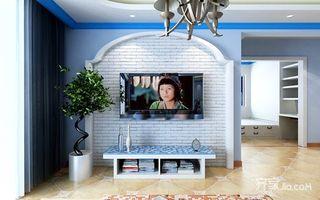 80㎡地中海风格家电视背景墙