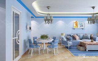 80㎡地中海风格家餐厅布置图