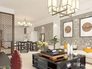 150平四居室中式韵味之家茶室