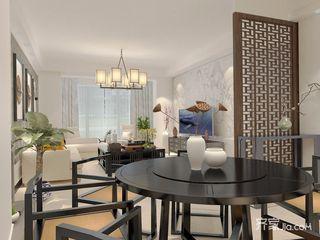 150平四居室中式韵味之家餐厅布置图