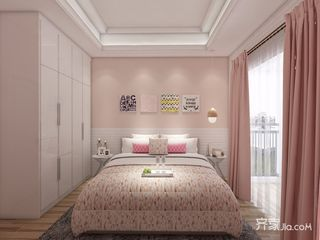 少女心满溢的粉色简约家卧室设计图