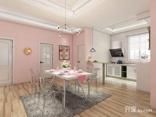 少女心满溢的粉色简约家餐厅效果图