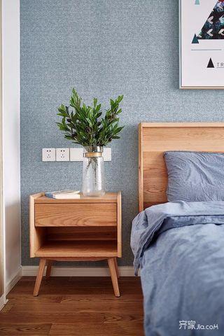 二居室北欧风格家卧室床头柜