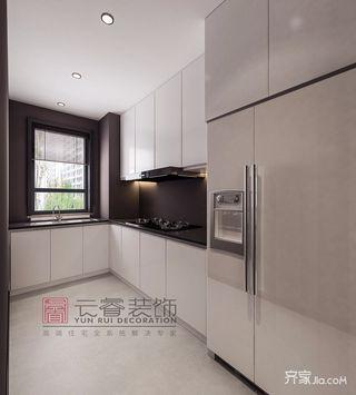 130㎡现代简约风格装修厨房构造图