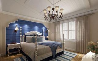 80㎡地中海风格家卧室效果图