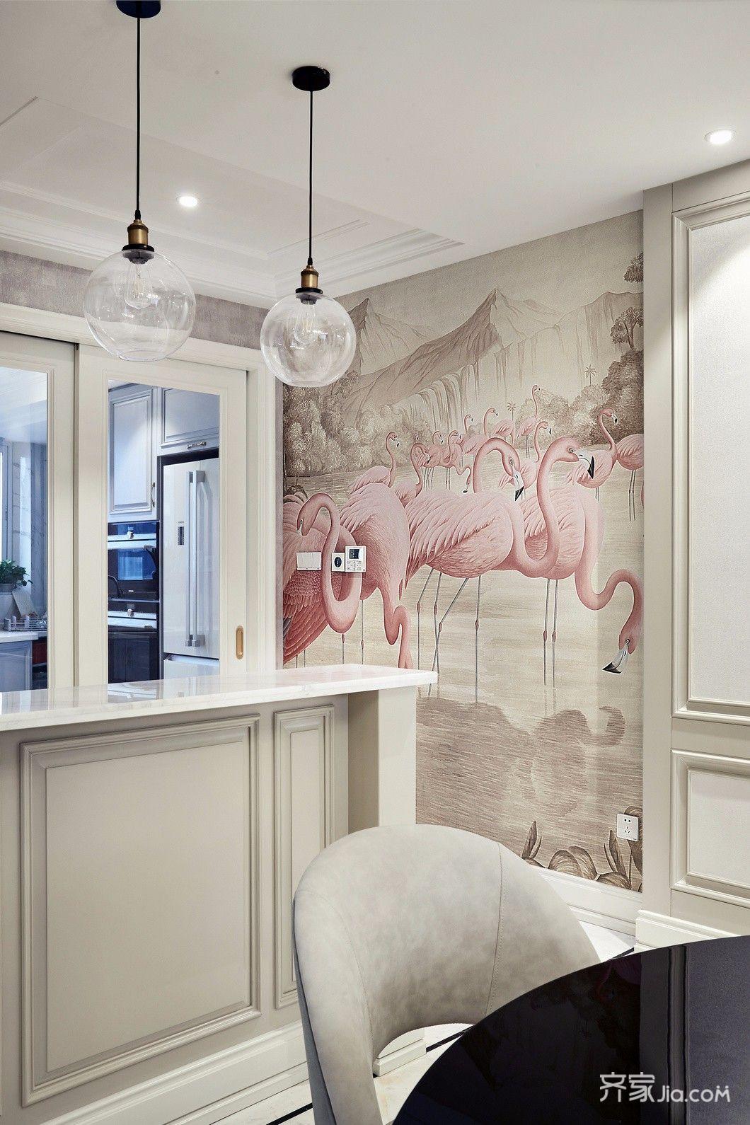 三居室现代简约家餐厅吧台