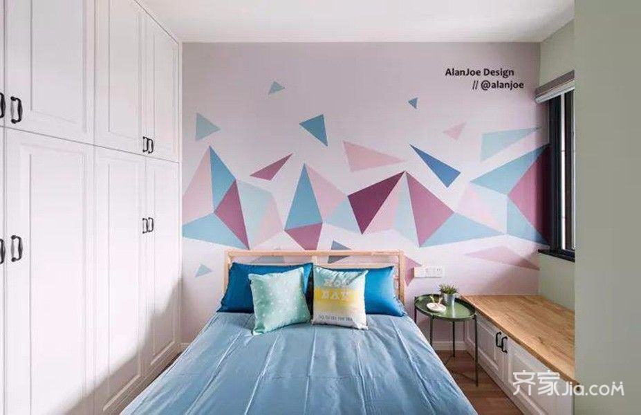 三居室简约风格装修儿童房装潢图