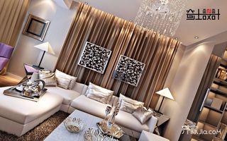 120平现代奢华风装修沙发背景墙