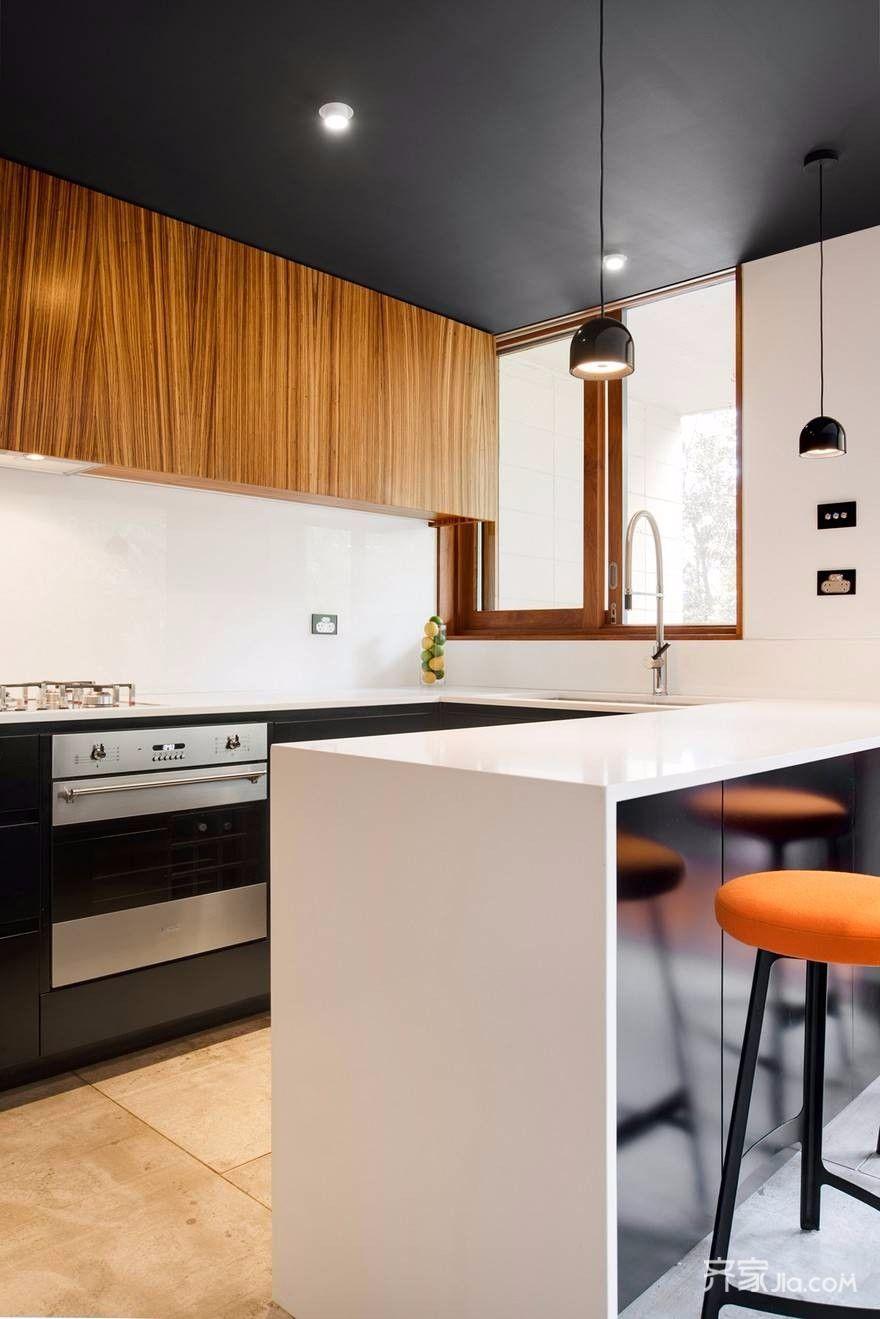 70平小户型装修厨房吧台图片
