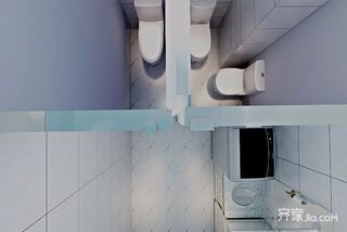 简约三居室装修卫生间效果图