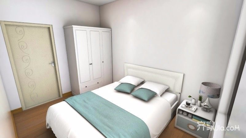 二居室简约风格装修次卧效果图
