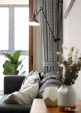 140平简约风格家窗帘图片