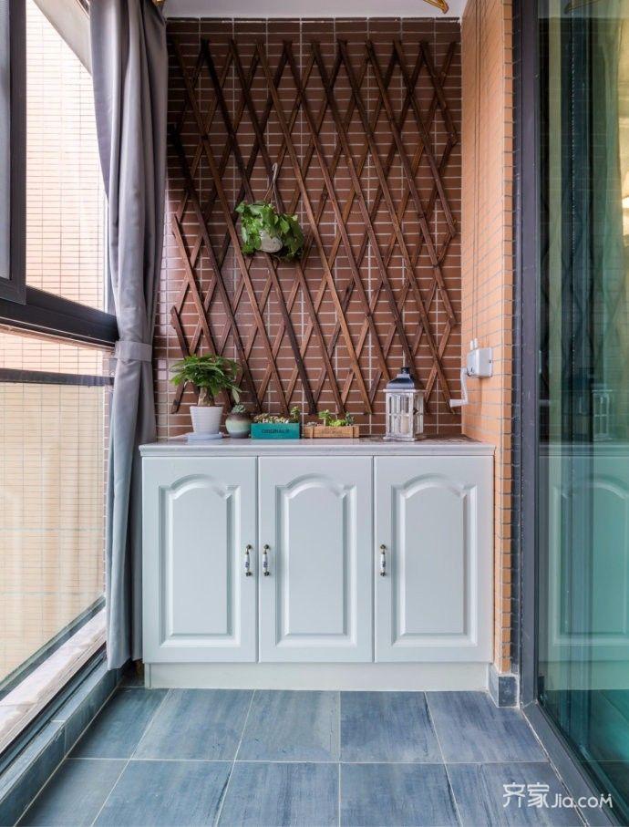 140㎡美式风格装修阳台背景墙图片