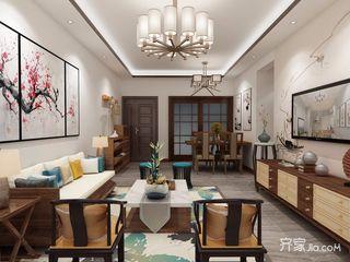 100平中式风格家客厅欣赏图