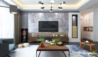 简约三居室装修客厅效果图