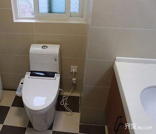 二居室简约装修卫生间实景图