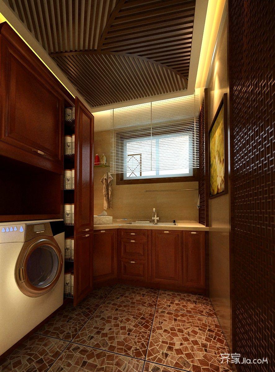 360平中式别墅装修卫生间装潢图