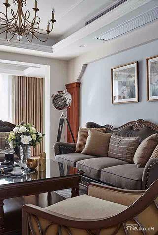 美式三居室裝修美式家具圖片