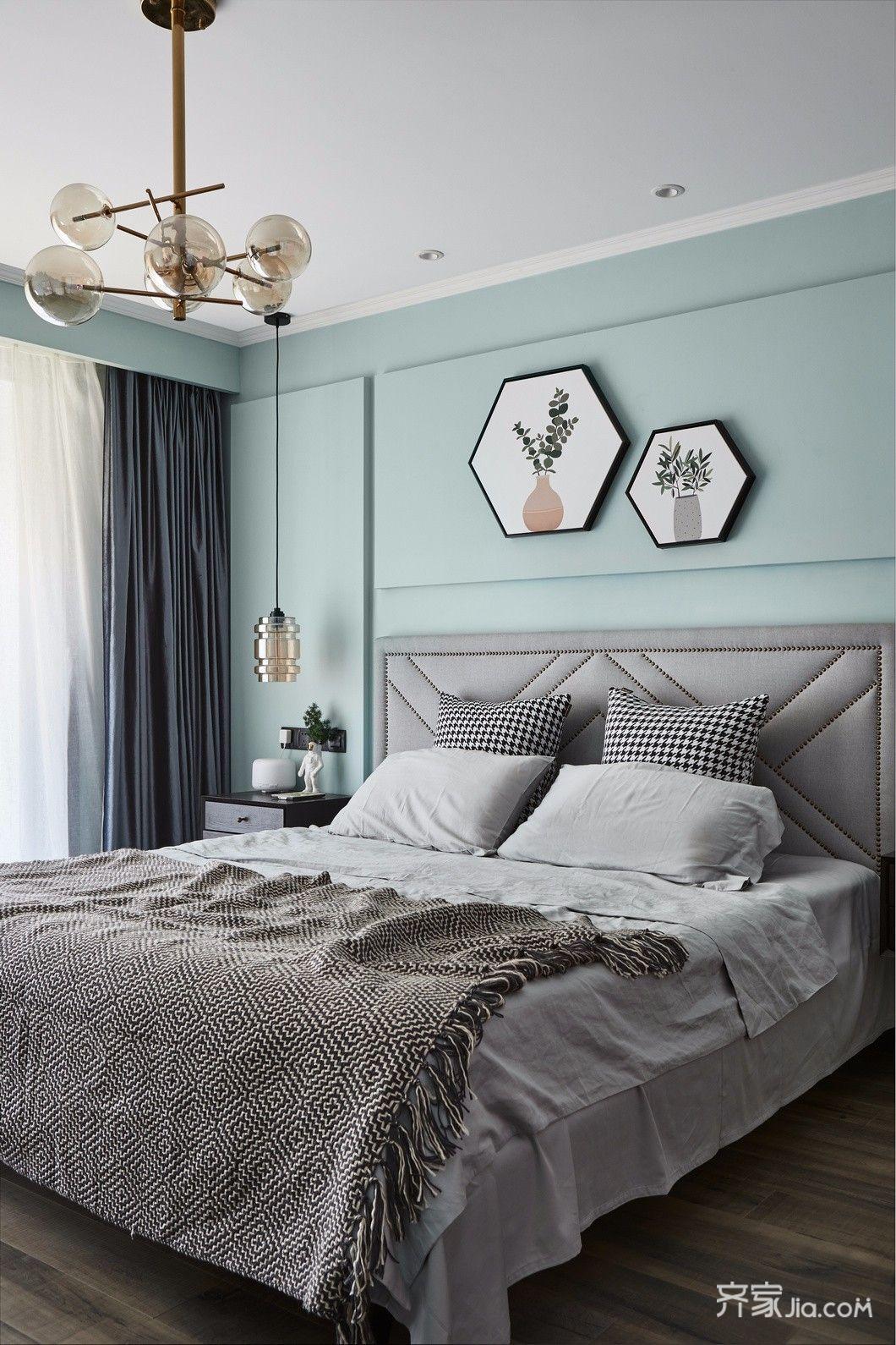 140平简约风格装修卧室装潢图