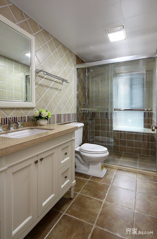 10万就搞定的三口之家卫浴间效果图