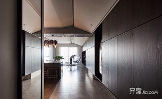 125平美式三居室装修玄关图片