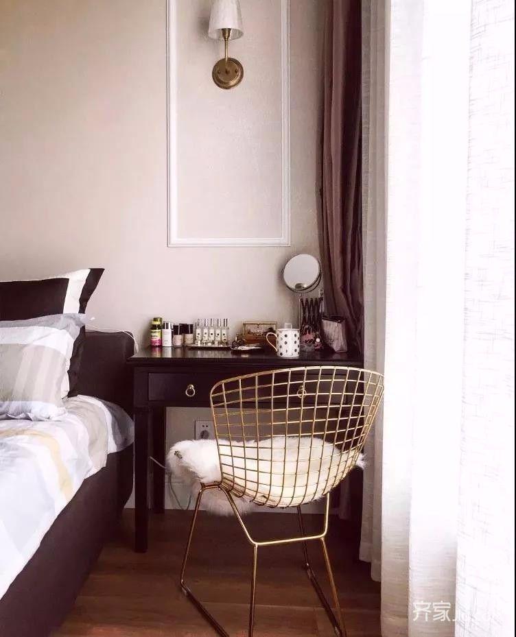 三居室混搭风格装修化妆台图片