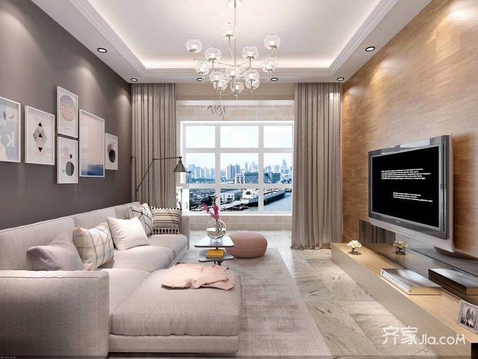 简约的二居室装修客厅效果图