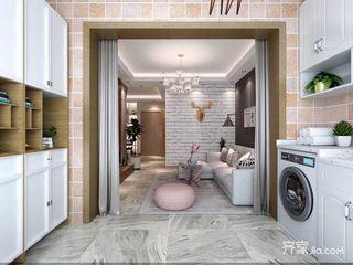 简约的二居室装修厨房布局图