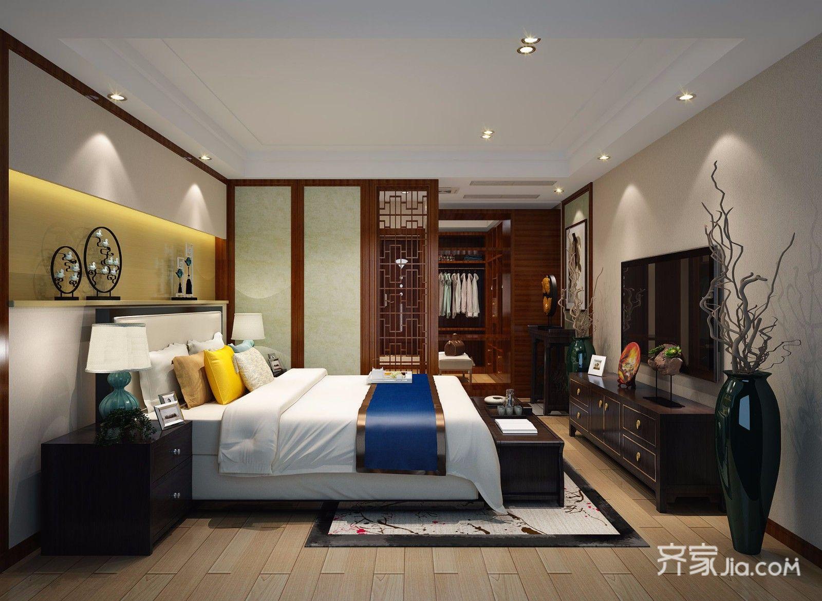 别墅古典装修卧室效果图
