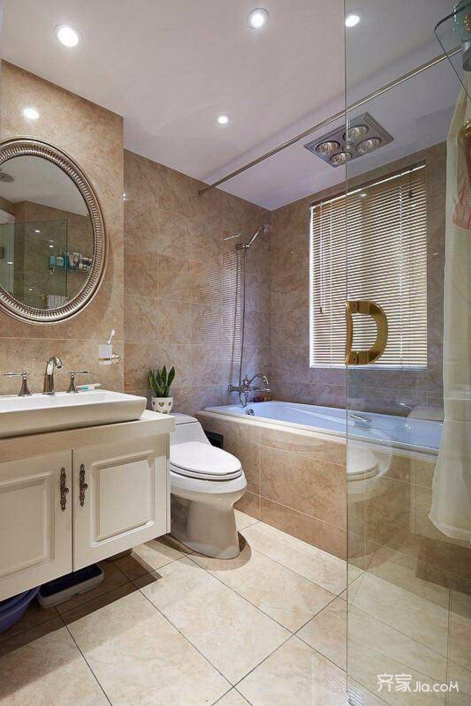 别墅古典装修卫浴间欣赏图