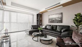 135㎡简约风格三居室装修客厅设计图