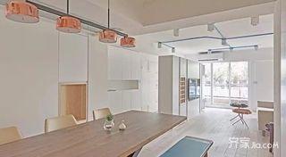 130㎡北欧风格三居室装修餐厅布局图
