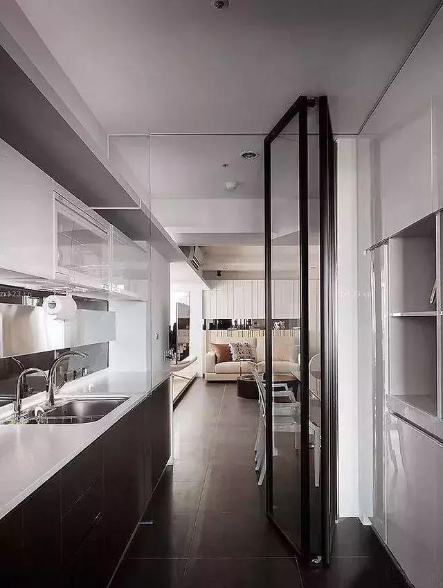 小户型厨房卫生间用推拉门好还是折叠门好,这几款不仅颜值高还实用