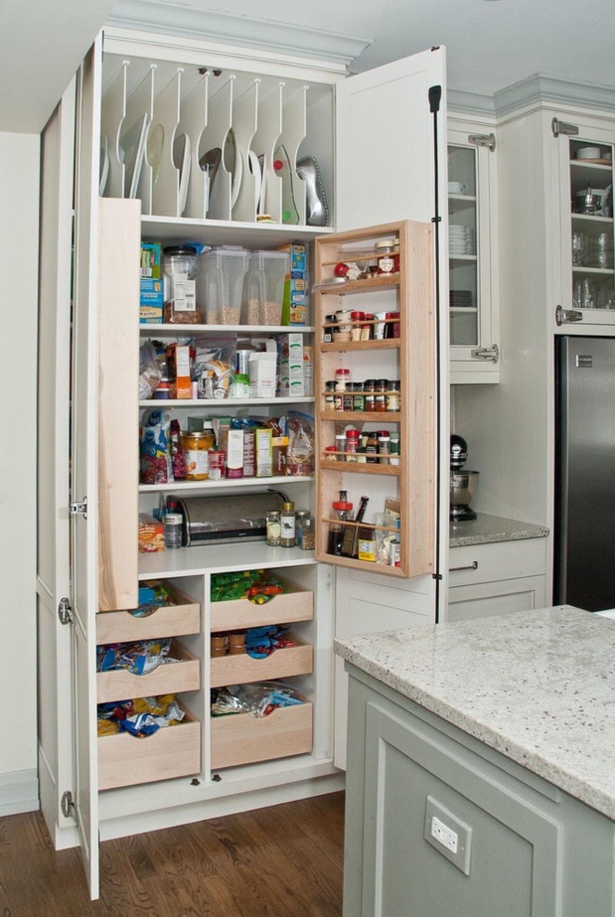不锈钢厨房储物架图片