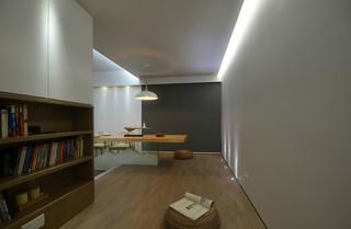 简约日式风格书房装修效果图