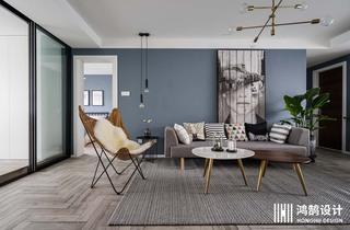 100㎡北欧风格家客厅布置图