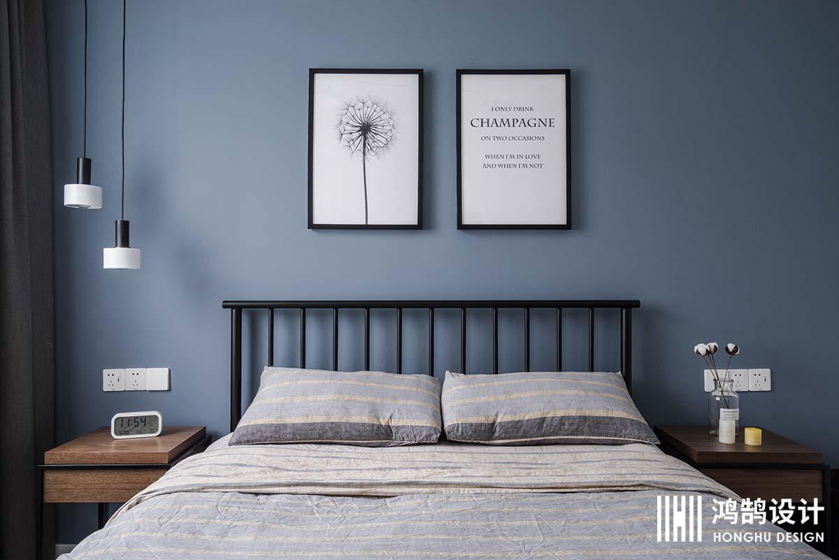 100㎡北欧风格家床品图片